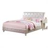 Dorothy Full Bed (Padded), Pearl White PU & Ivory