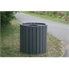 Frog Furnishings 55 Gal. Gray Standard Round Receptacle