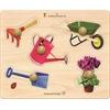 Edushape Large Knob Puzzle - Garden Tools