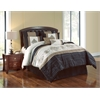 Blackmoore 8pc Queen Comforter Set, Black/Gold