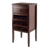 Winsome Wood Orleans Modular Buffet With Drawer, 12-Bottle Wine Rack, 17.72 x 16.34 x 35.43, Cappuccino