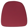 Flash Furniture Soft Burgundy Fabric Chiavari Chair Cushion