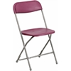 Flash Furniture HERCULES Series 440 lb. Capacity Premium Burgundy Plastic Folding Chair