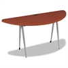 BALT iFlex Series Half Round Table, 62w x 24d x 29h, Cherry/Silver