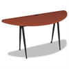 iFlex Series Half Round Table, 62w x 24d x 29h, Cherry/Black