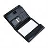 Bond Street, Ltd. Pad Holder w/Calculator, Leather-Look, Gusset Organizer, Writing Pad, Black