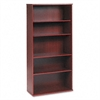 Bush Series C Five-Shelf Bookcase, 35-5/8w x 15-3/8d x 72-7/8h, Mahogany