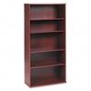 Bush Series C Five-Shelf Bookcase, 35-5/8w x 15-3/8d x 72-7/8h, Mahogany