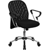 Flash Furniture Mid-Back Black Mesh Swivel Task Chair with Chrome Base