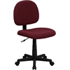 Mid-Back Burgundy Fabric Swivel Task Chair