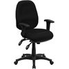 Flash Furniture Mid-Back Multi-Functional Black Fabric Executive Swivel Office Chair