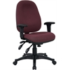 Flash Furniture Mid-Back Multi-Functional Burgundy Fabric Executive Swivel Office Chair
