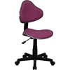 Lavender Fabric Ergonomic Swivel Task Chair