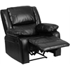 Harmony Series Black Leather Recliner
