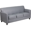 Flash Furniture HERCULES Diplomat Series Gray Leather Sofa