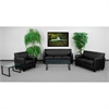 Flash Furniture HERCULES Diplomat Series Reception Set in Black
