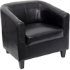 Flash Furniture Black Leather Office Guest Chair / Reception Chair
