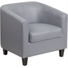 Flash Furniture Gray Leather Office Guest Chair / Reception Chair