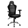 Flash Furniture Race Car Inspired Bucket Seat Swivel Task Chair in Gray & Black Mesh