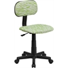 Green and White Zebra Print Swivel Task Chair