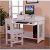 Desk and Hutch in White