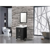"Ricca 24"" Single Sink Bathroom Vanity Set, Espresso"