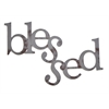 Letter2Word Blessed Wall Decor, Gunmetal