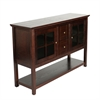 "Walker Edison 52"" Wood Console Table TV Stand - Espresso"