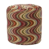 Frequency Tomato Tapestry Pouf Ottoman