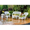 Tortuga Outdoor Portside 6Pc Seating - White - Monti Leaf