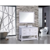 "Norway 48"" Single Sink Bathroom Vanity Set, White"