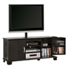 "Walker Edison 60"" Black Wood TV Stand Console with Mount"
