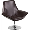 HERCULES Sabrina Series Brown Leather Reception Chair