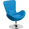 Flash Furniture Aqua Fabric Egg Series Reception-Lounge-Side Chair