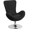 Egg Series Black Fabric Side Reception Chair