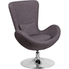 Dark Gray Fabric Egg Series Reception-Lounge-Side Chair