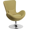 Flash Furniture Green Fabric Egg Series Reception-Lounge-Side Chair