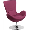 Flash Furniture Magenta Fabric Egg Series Reception-Lounge-Side Chair