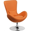Orange Fabric Egg Series Reception-Lounge-Side Chair