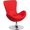 Egg Series Red Fabric Side Reception Chair