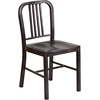 Flash Furniture Black-Antique Gold Metal Indoor-Outdoor Chair