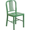 Flash Furniture Green Metal Indoor-Outdoor Chair