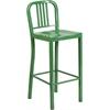 Flash Furniture 30'' High Green Metal Indoor-Outdoor Barstool