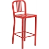 Flash Furniture 30'' High Red Metal Indoor-Outdoor Barstool