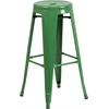 Flash Furniture 30'' High Backless Green Metal Indoor-Outdoor Barstool with Round Seat