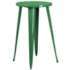 Flash Furniture 24'' Round Green Metal Indoor-Outdoor Bar Height Table