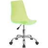 Contemporary Transparent Green Acrylic Task Chair with Chrome Base
