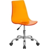 Flash Furniture Contemporary Transparent Orange Acrylic Task Chair with Chrome Base