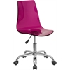 Contemporary Transparent Purple Acrylic Swivel Task Chair with Chrome Base