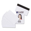 PVC ID Badge Card, Magnetic Stripe, 3-3/8 x 2-1/8, White, 100/Pack